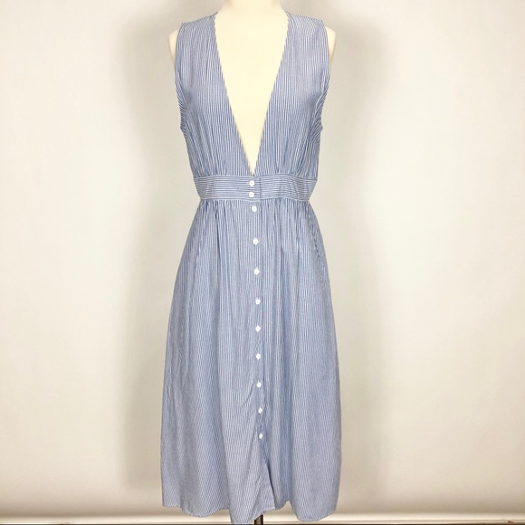 b241845b424a Urban Outfitters Dresses | Uo Kimchi Blue Stella Striped Plunge ...